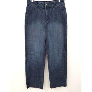 NYDJ Wide Leg Mid-Rise Jeans